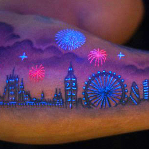 Glow in the dark Tattoos Design ideas