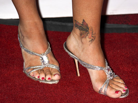 Denise Richards Ankle Tattoo