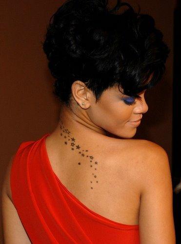 Rihanna Back Tattoo