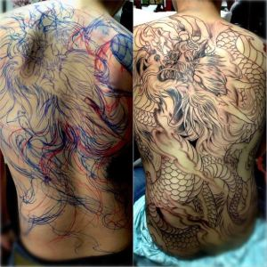 Tattoo Process by Master Mike
