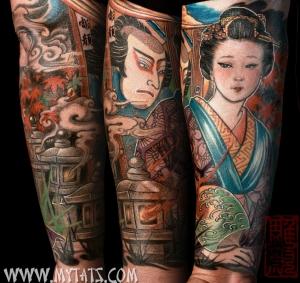 Jess Yen Geisha Forearm Tattoo