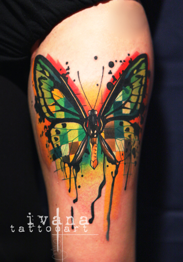 Melting Butterfly Tattoo