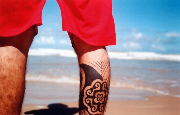 Tribal Tattoo on the Beach